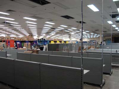 large shop fitout clean